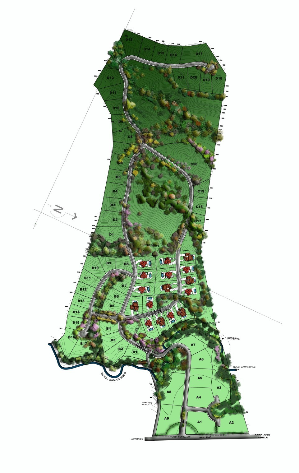 Click to view Montecito Development Parcel Master Plan